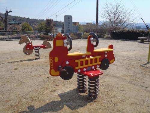 瑞浪市 和合公園 スプリング遊具(消防車、うま)