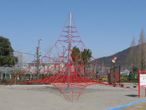 岐阜市 長良公園 ザイルクライミング