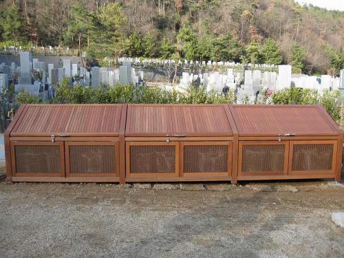 各務原市 瞑想の森 木製ゴミストッカー