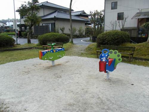 瑞浪市 五色公園 ムービング遊具(かば・ぞう、くじゃく)