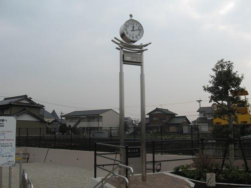 美濃加茂市 切通公園  モニュメント時計塔