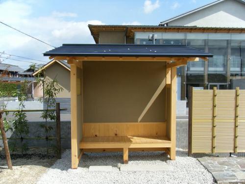 羽島用水整備(岐南地区) 木製待屋
