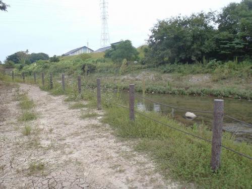 各務原市 プラ擬木ロープ柵