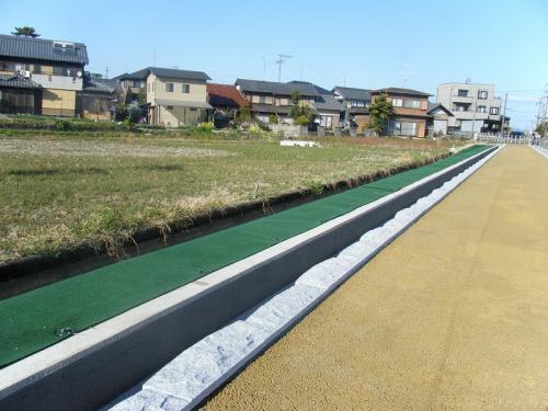 羽島用水整備(柳津地区) 石張り