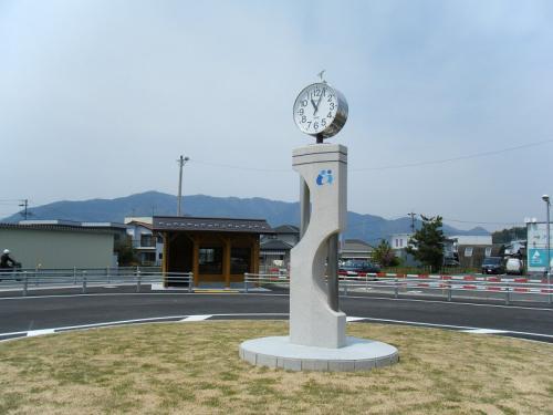 揖斐川町 旧名鉄揖斐駅  モニュメント時計塔