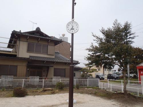 関市 福野公園 ソーラー式時計